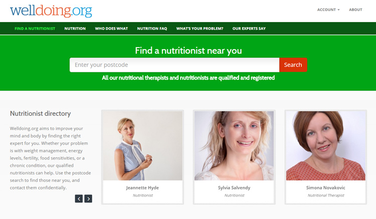 Find a Nutrition Expert Through Welldoing.org​