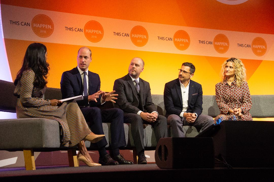 Prince William Attends Mental Health in Workplace Conference